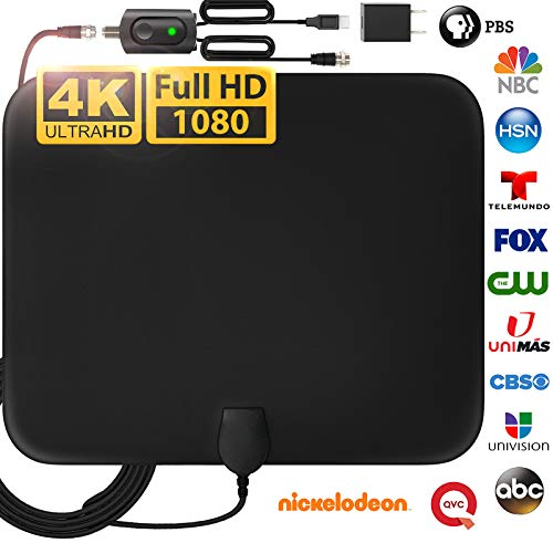 [Latest 2020] Amplified HD Digital TV Antenna Long 200 Miles Range - Support 4K...