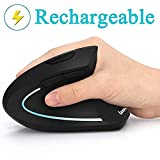 Ergonomic Mouse, LEKVEY Vertical Wireless Mouse - Rechargeable 2.4GHz Optical...