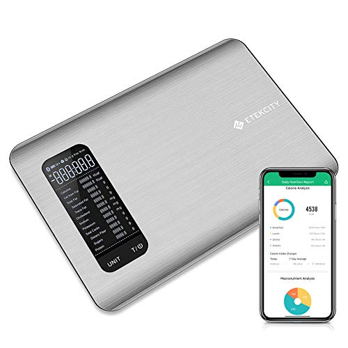 Etekcity Smart Food Nutrition Scale, Digital Grams and Ounces for Weight Loss, Baking,...