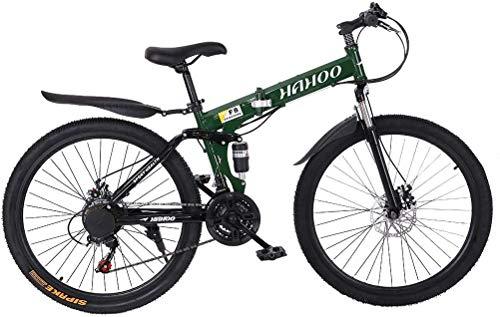 26 Inch Adult Mountain Bikes, Unisex Folding Bike Non-Slip Bicycles - Fast-Speed...