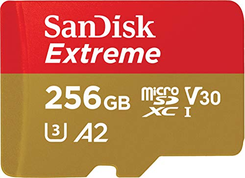 SanDisk 256GB Extreme microSDXC UHS-I Memory Card with Adapter - Up to 160MB/s, C10, U3,...