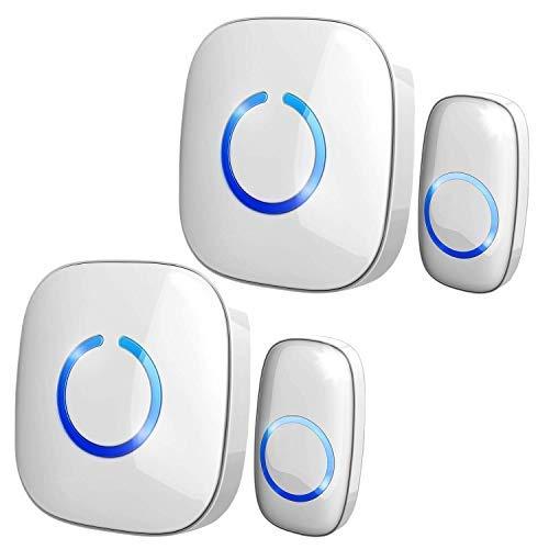Wireless Doorbell with Glow in the Dark Button - SadoTech Door Bells & Chimes Wireless...