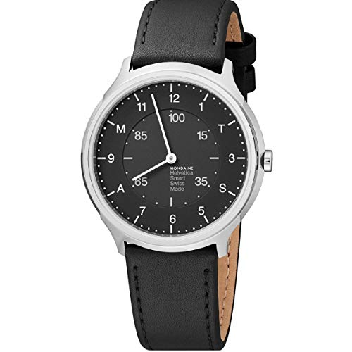 Mondaine Helvetica No 1 Classy Smartwatch for Men (MH1.R2S20.LB): Pedometer, Caloric...