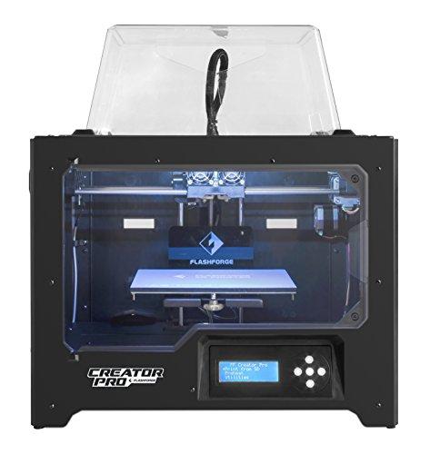 FlashForge 3D Printer Creator Pro, Metal Frame Structure, Acrylic Covers, Optimized Build...
