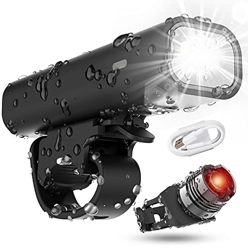 Cincred Bike Lights,USB Rechargeable Front and Back Bike Lights with Runtime 8+ Hours 400...