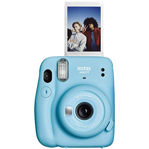 Fujifilm Instax Mini 11 Instant Camera - Sky Blue, 4.8' x 4.2' x 2.6', Camera Only