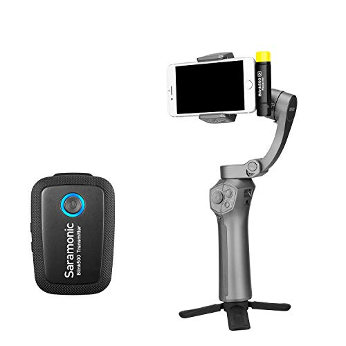 2.4GHz Wireless Microphone System for iOS Devices, Saramonic Ultracompact Vlog Video Mic...