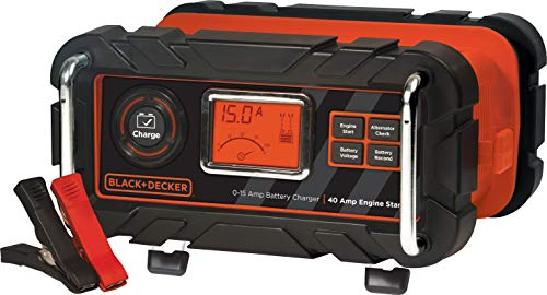 BLACK+DECKER BC15BD Fully Automatic 15 Amp 12V Bench Battery Charger/Maintainer with 40A...