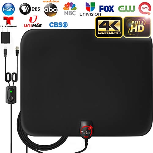 [2020 Latest] Amplified HD Digital TV Antenna Long 180 Miles Range - Support 4K...