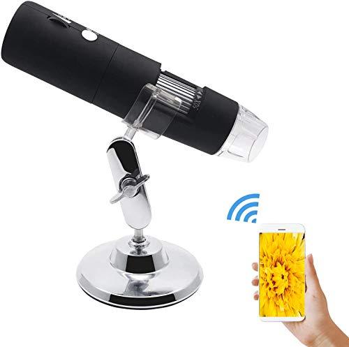 Wireless Digital Microscope USB Microscope Camera 50X to 1000X 8 LED Light WiFi Handheld...