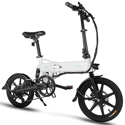 FIIDO D2S Folding EBike, 250W Aluminum Electric Bicycle with Pedal for Adults and Teens,...