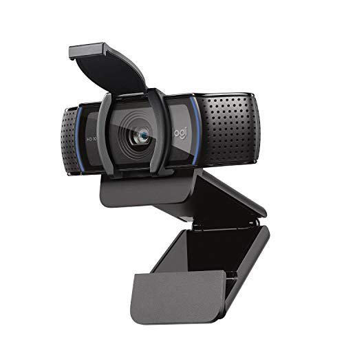 Logitech C920S HD Pro Webcam with Privacy Shutter - Widescreen Video Calling and...