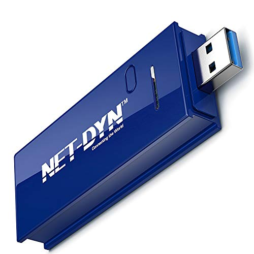 NET-DYN USB Wireless WiFi Adapter,AC1200 Dual Band, 5GHz and 2.4GHZ (867Mbps/300Mbps),...