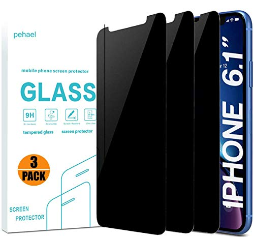 pehael Privacy Screen Protector for iPhone 11 iPhone Xr, 9H Hardness Anty- Spy Tempered...