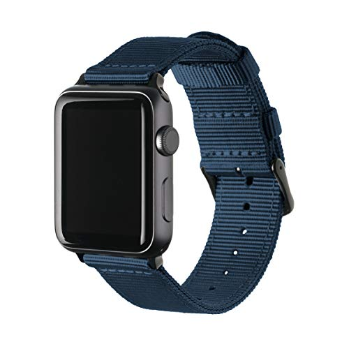 Archer Watch Straps - Premium Nylon Replacement Bands for Apple Watch (Navy, Black,...
