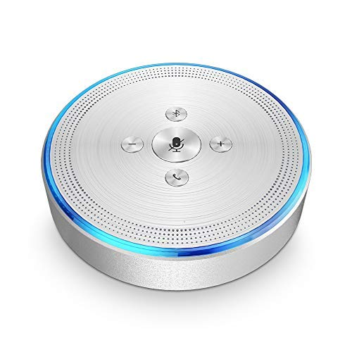 Bluetooth Conference Speaker - eMeet M1 Silver Wireless Conference Phone Conference...