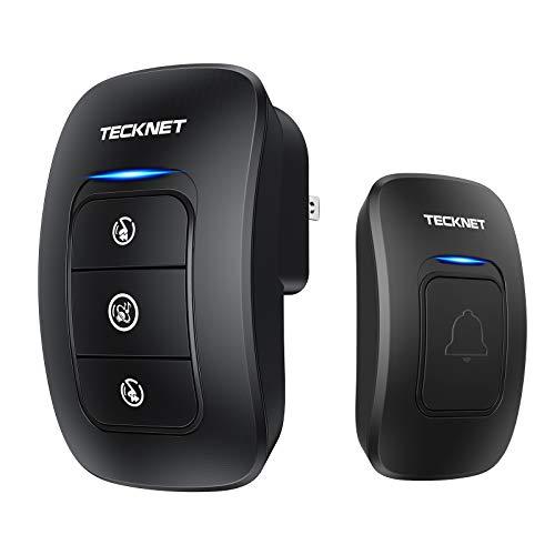 Wireless Doorbell, TeckNet Waterproof Wireless Door Bell Chime Kit, Operating at 1000 Foot...