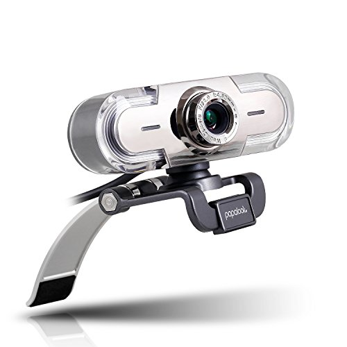 Webcam 1080P Full HD PC Skype Camera, PAPALOOK PA452 Web Cam with Microphone, Video...