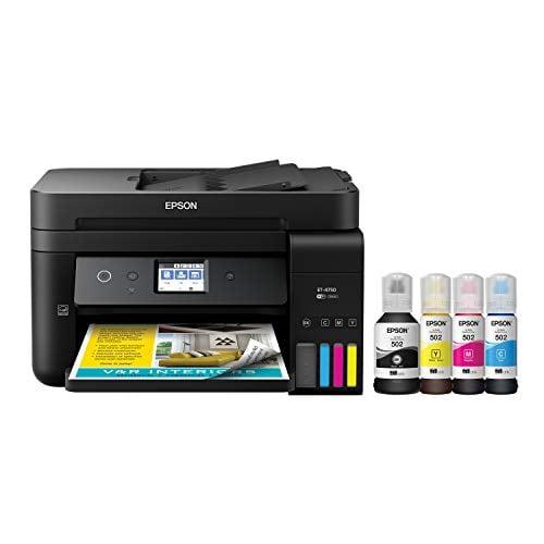 Epson WorkForce ET-4750 EcoTank Wireless Color All-in-One Supertank Printer with Scanner,...