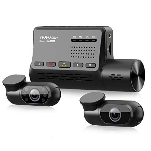 3 Channel Dash Cam VIOFO A139, Front+Interior+Rear 1440P+1080P+1080P Triple Car Dash...