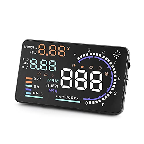 A8 HUD Head up Display Speedometer for Car with OBDII EUOBD ,5.5 inch Universal Digital...
