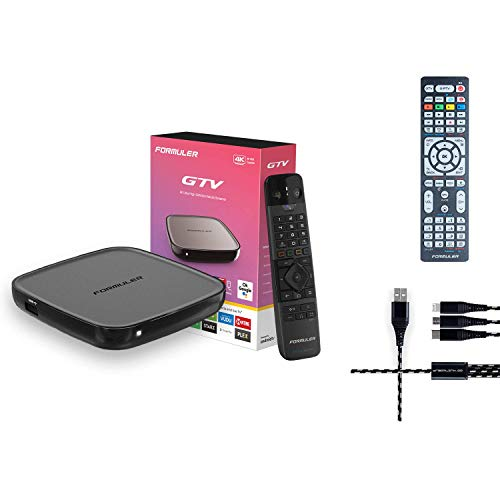Formuler GTV 4K Ultra HD Media Streaming Box with Free 3in One Charger + Universal...
