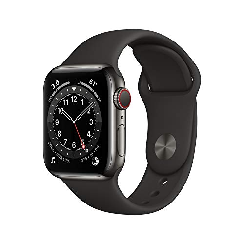 New AppleWatch Series 6 (GPS + Cellular, 40mm) - Graphite Stainless Steel Case with...