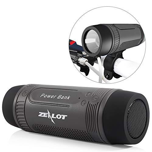 Outdoor Bluetooth Speakers Portable Wireless Bicycle Speaker Zealot S1 4000mAh Power Bank...