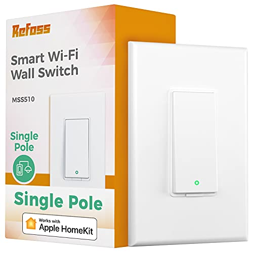 Smart Light Switch Apple Homekit - Refoss Single Pole Smart Switch Wi-Fi Wall Switch...