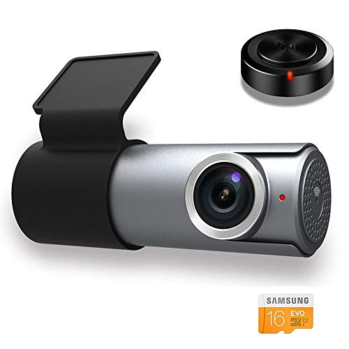 Goluk T1 Wifi FHD 1080P Mini Car Dash Cam Recorder, with 16G TF Card, Motion Detection,...
