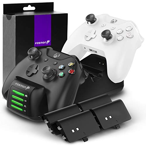 Fosmon Quad PRO Controller Charger Compatible with Xbox One/One X/One S Elite (Not for...