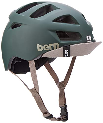 BERN, Allston Helmet with Flip Visor, Matte Cyan Blue, Medium