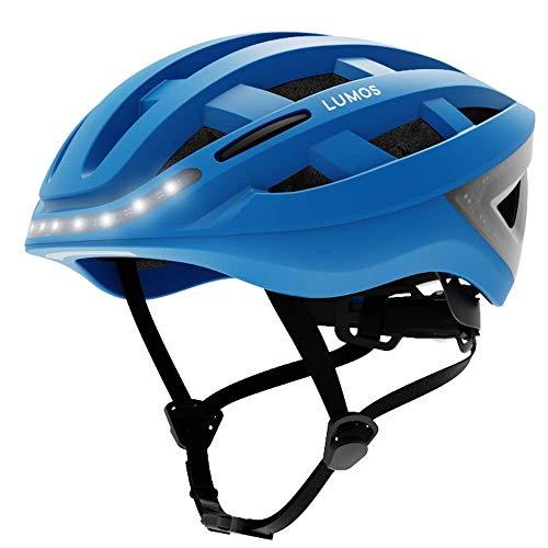LUMOS Kickstart Smart Helmet (Cobalt Blue) | Bike Accessories | Adult: Men, Women | Front...