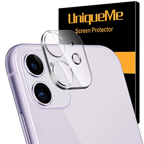 [ 1 Pack] UniqueMe Camera Lens Protector for iPhone 11 Tempered Glass, Easy Install 9H...