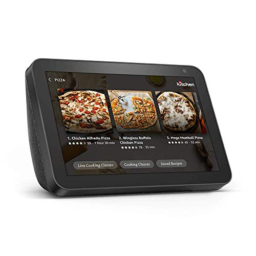 Echo Show 8 (Charcoal) Kitchen Bundle with Food Network Kitchen Complimentary Subscription