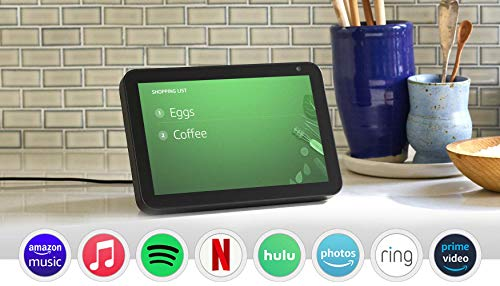 Echo Show 8 (1st Gen, 2019 release) -- HD smart display with Alexa – stay connected with...
