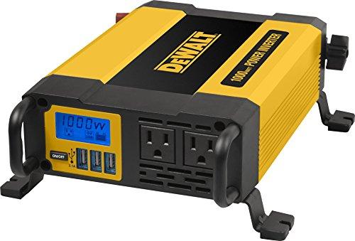 DEWALT DXAEPI1000 Power Inverter 1000W Car Converter with LCD Display: Dual 120V AC...