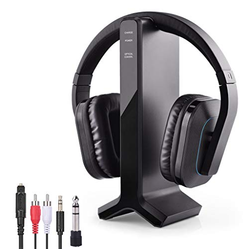 Avantree HT280 Wireless Headphones for TV Watching with 2.4G RF Transmitter Charging Dock,...
