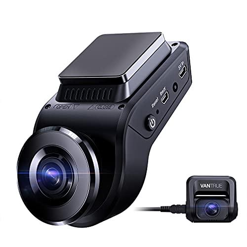 Vantrue S1 4k Hidden Dash Cam Built in GPS Speed, Dual 1080P Front and Rear Car Camera...