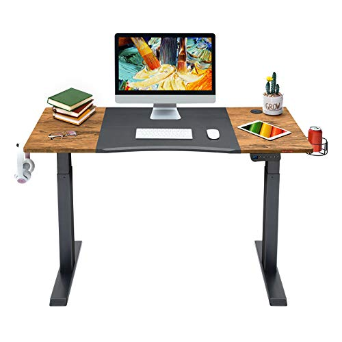 Mr IRONSTONE Electric Height Adjustable Desk 47.2' Standing Desk Sit to Stand Home Office...