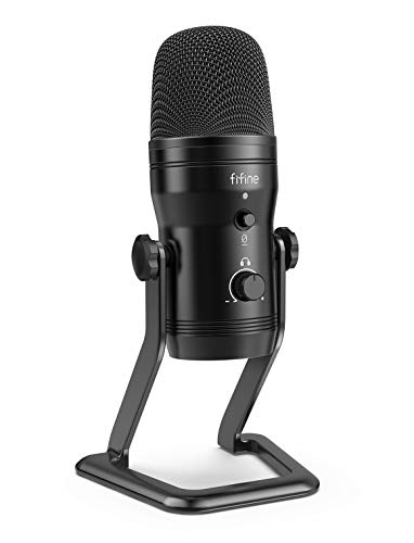 FIFINE USB Studio Recording Microphone Computer Podcast MicforPC, PS4,...
