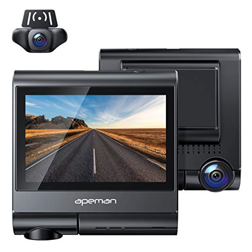 APEMAN 4K Touch Screen Dash Cam, 1920x1080P Front and Rear Dash Camera for Cars, Built-in...