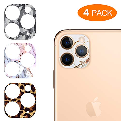 YDY for iPhone 11 Pro/iPhone 11 Pro Max Camera Lens Protector, Clear Tempered Glass+Black...