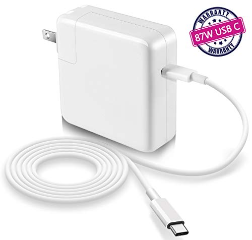 87w USB-C Power Adapter Compatible with Macbook Pro Charger 87w USB C 2018 New Macbook Air...
