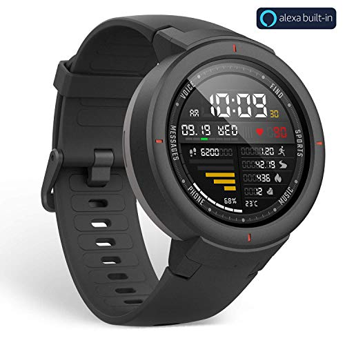 Amazfit Verge Smartwatch with Alexa Built-in, GPS Plus GLONASS All-Day Heart...