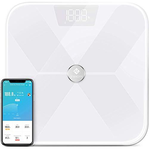 Etekcity Smart Bluetooth Body Fat Scale, Digital Weight Bathroom Scale with 13 Essential...