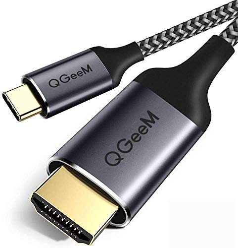 USB C to HDMI Cable, QGeeM USB Type C to HDMI Cable 6ft 4K@60Hz Braided Cable Adapter...