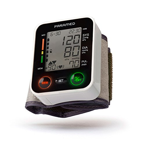 PARAMED Automatic Wrist Blood Pressure Monitor: Blood-Pressure Kit of Bp Cuff + 2AAA and...