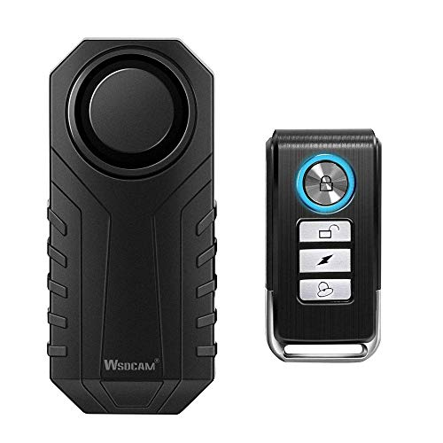 Wsdcam 113dB Anti-Theft Bicycle Motorcycle Alarm Wireless Security Vibration Motion Sensor...