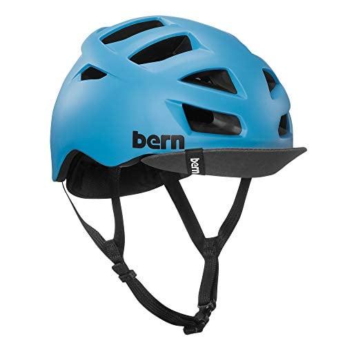 BERN, Allston Helmet with Flip Visor, Matte Cyan Blue, Medium